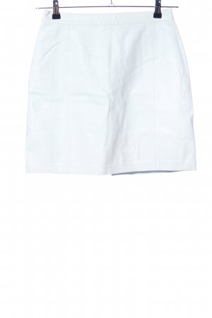 Leather Skirt white casual look