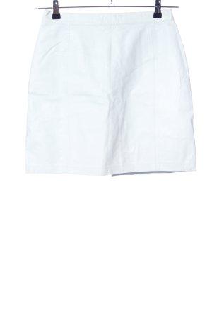 Jupe en cuir blanc style décontracté