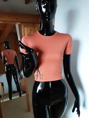 Shirt met print zwart-donker oranje