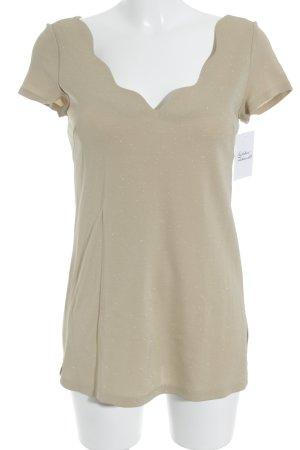 Amazone T-shirt beige Tessuto misto