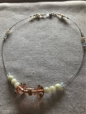 Amazonit , Mondstein , Süßwasser  Perlen  Collier