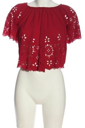 ambar Bluzka typu carmen czerwony W stylu casual