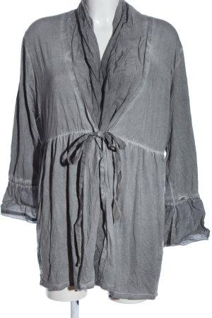 Ambee Cardigan grigio chiaro puntinato stile casual
