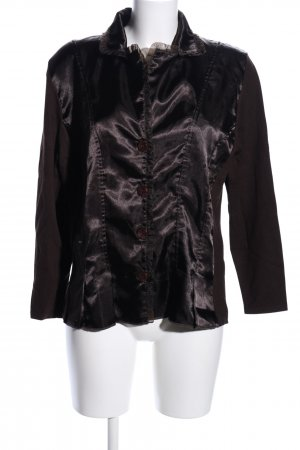 Ambee Knitted Cardigan brown wet-look