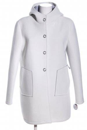 AMBER & JUNE Hooded Coat light grey elegant