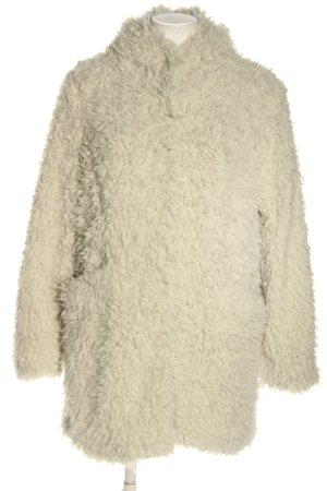 AMBER & JUNE Giacca in eco pelliccia bianco sporco stile casual