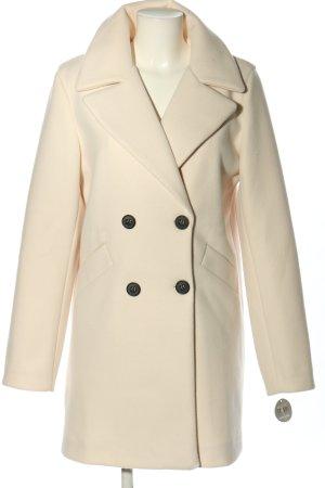 AMBER & JUNE Cappotto corto crema stile professionale