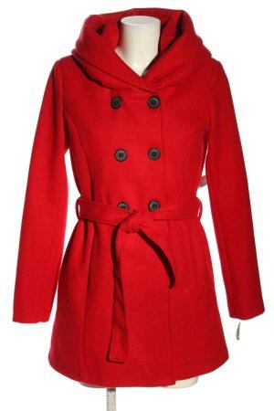 AMBER & JUNE Manteau court rouge style décontracté