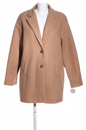 AMBER & JUNE Between-Seasons-Coat brown business style
