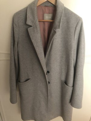 AMBER & JUNE Short Coat light grey-silver-colored