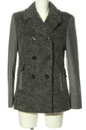 AMBER & JUNE Wełniany płaszcz jasnoszary Melanżowy W stylu casual