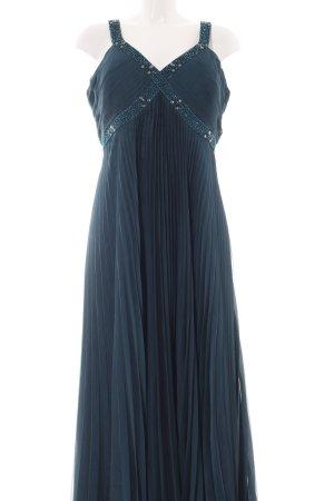 Ambiance Evening Dress blue wet-look