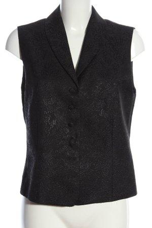 Ambiance Waistcoat black allover print elegant