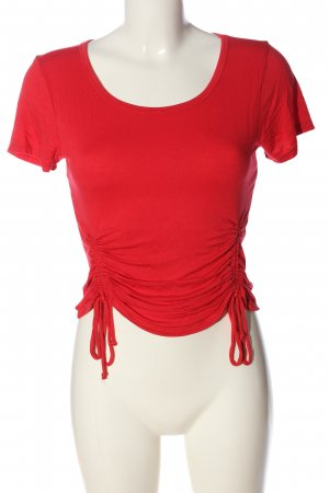 Ambiance Cropped Shirt red casual look