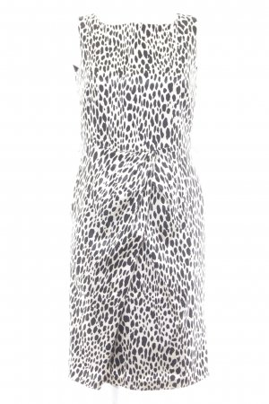 Ambiance Sheath Dress black-oatmeal animal pattern