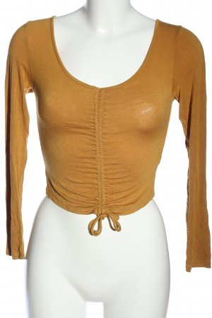 Ambiance Long Sleeve Blouse brown casual look