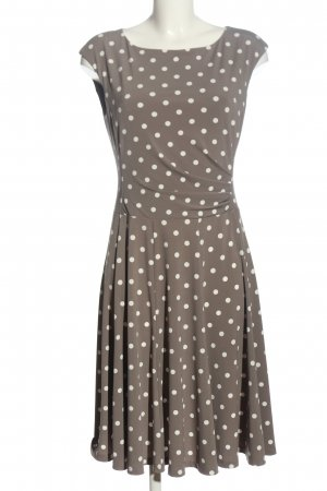 Ambiance Midi Dress brown-white spot pattern casual look