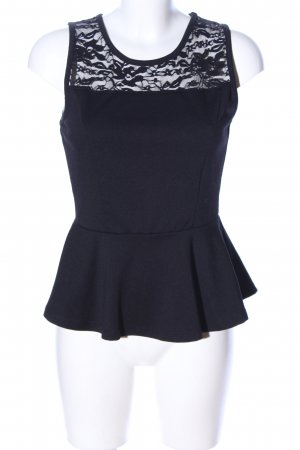 Ambiance Peplum Top black casual look