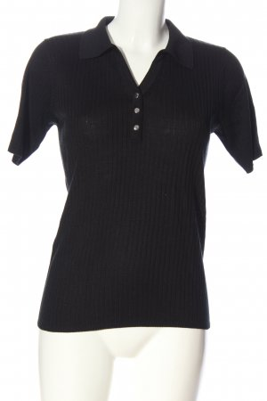 Ambiance Gebreid shirt zwart gestreept patroon casual uitstraling
