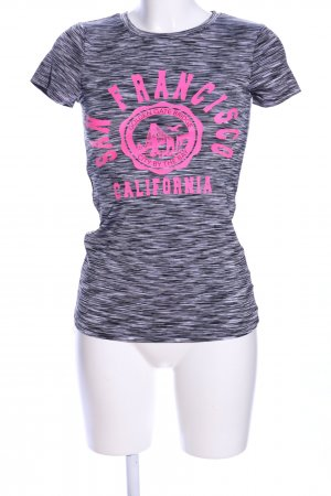 Ambiance T-Shirt light grey-pink flecked casual look