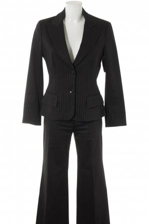 Ambiente Trouser Suit black-white striped pattern business style