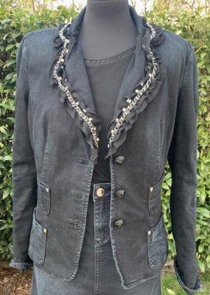Ambiente Blazer in jeans nero-argento