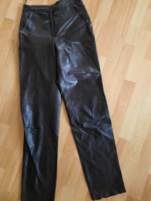 Ambiente Skórzane spodnie brązowy Skóra