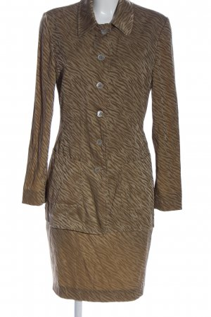 Ambiente Ladies' Suit brown-gold-colored animal pattern business style