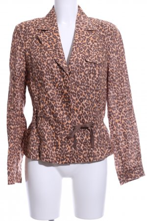 Ambiente Short Blazer brown-natural white allover print casual look