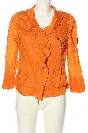 Ambiente Korte blazer licht Oranje casual uitstraling