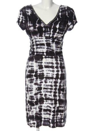 Ambiente Sukienka z krótkim rękawem czarny-biały Abstrakcyjny wzór