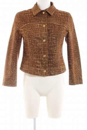Ambiente Short Jacket brown abstract pattern elegant