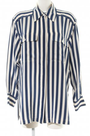 Ambiente Long Sleeve Shirt blue-natural white striped pattern casual look