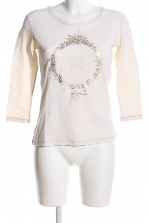 Ambiente Longsleeve natural white printed lettering casual look