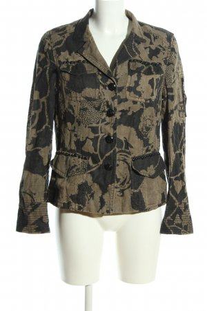 Ambiente Military Jacket light grey-cream abstract pattern casual look