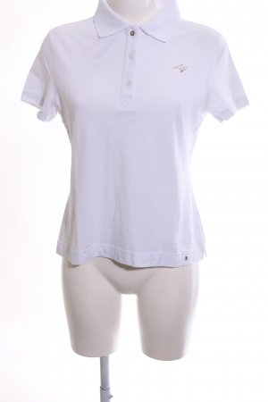 Ambiente Polo Shirt white-light grey themed print casual look
