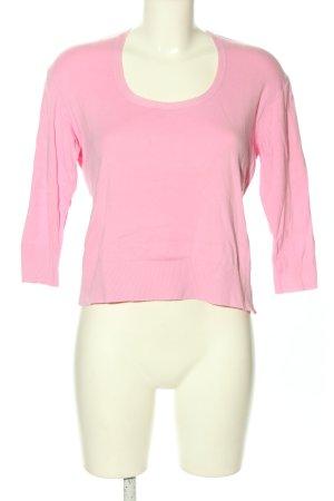 Ambiente Rundhalspullover pink Casual-Look