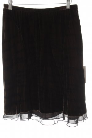 Ambiente Silk Skirt brown vintage look