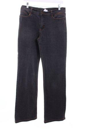 Ambiente Jeansy z prostymi nogawkami ciemnoszary W stylu casual