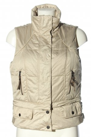 Ambiente Quilted Gilet brown casual look