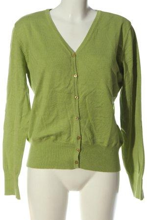 Ambiente Cardigan in maglia verde stile casual
