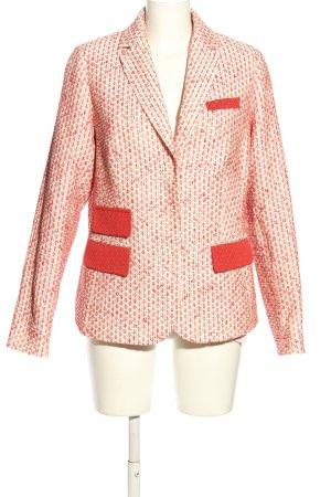 Ambiente Tweed Blazer red-cream allover print casual look