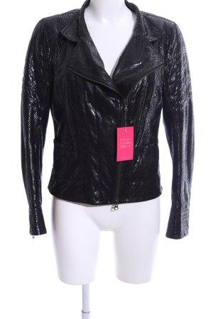Ambiente Between-Seasons Jacket black allover print casual look
