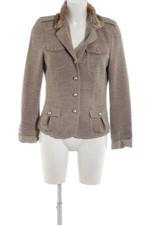 Ambiente Blazer en laine bronze-gris clair moucheté style décontracté