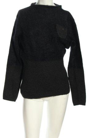 Ambiente Wollen trui zwart casual uitstraling