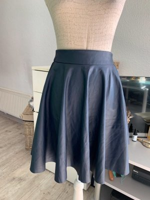Faux Leather Skirt dark blue polyester
