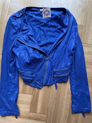 Ambika Krótka kurtka niebieski-niebieski neonowy Poliester