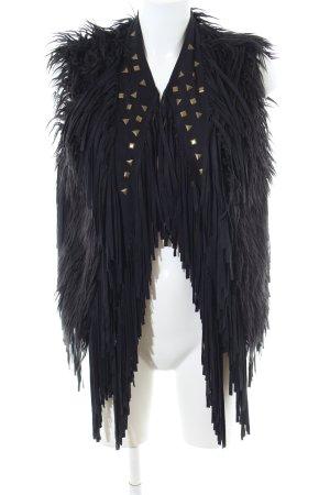Ambika Omkeerbaar vest zwart extravagante stijl