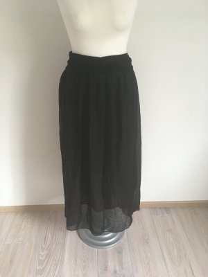 ambra Maxi gonna nero Seta
