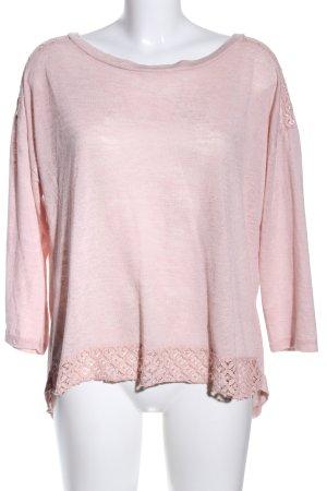 ambra Sweter z okrągłym dekoltem różowy Melanżowy W stylu casual